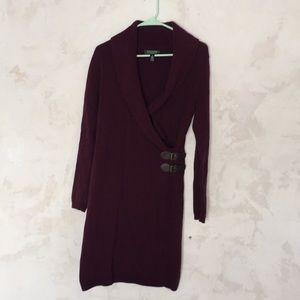 Ralph Lauren maroon/plum colored winter dress